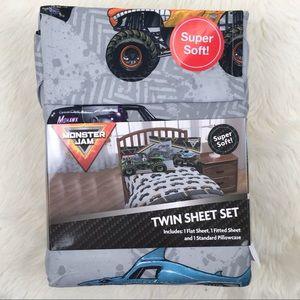 New Monster Jam Twin Sheet Set